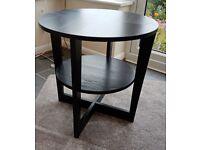Coffee table. Ikea black.
