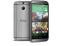 HTC One M8 16GB in Metal Grey - UNLOCKED to all Networks - Excellent Condition