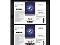4 x Pearl Jam Seated Tickets O2 Arena Tue 17th July