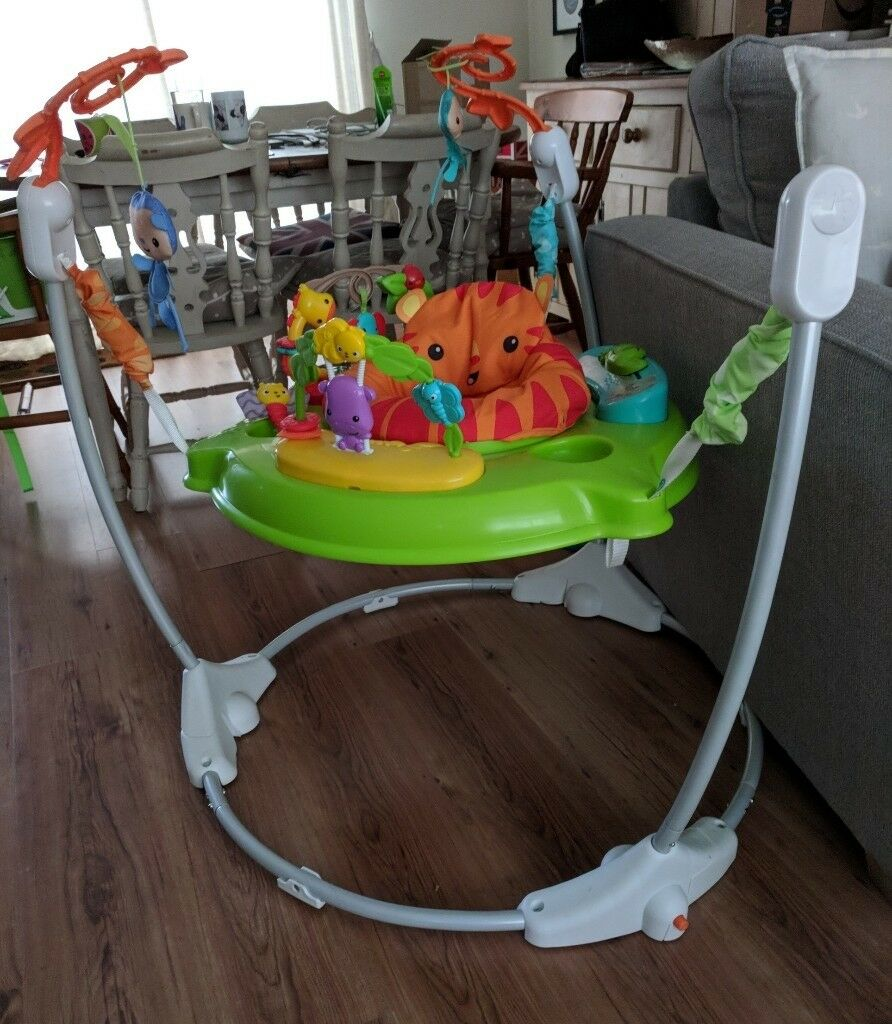 f08c1c5a2 Fisher-price Roaring RainForest Jumperoo Baby Bouncer Activity Centre