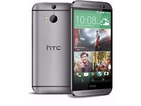 Gray New Unlocks HTC One m8 16GB Android New Phone