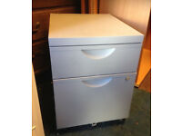 office pedestal grey metal filing cabinet on wheel