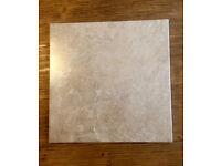 """20 beige new porcelain tiles 30 x 30 cm (just under 12"""" x 12"""")"""