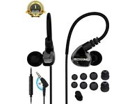 MOXKING running Sports earbud Headphones Wired Over Ear In Ear Headsets - BARGAIN! AMAZON £15.99