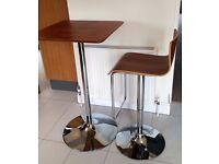 Bar table and stool