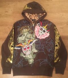 2 brand new Christian Audigier men's authentic luxury designer hoodies, decorated with rhinestones