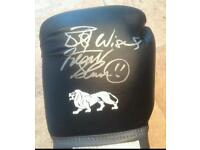 Frank Bruno signed boxing glove with Coa