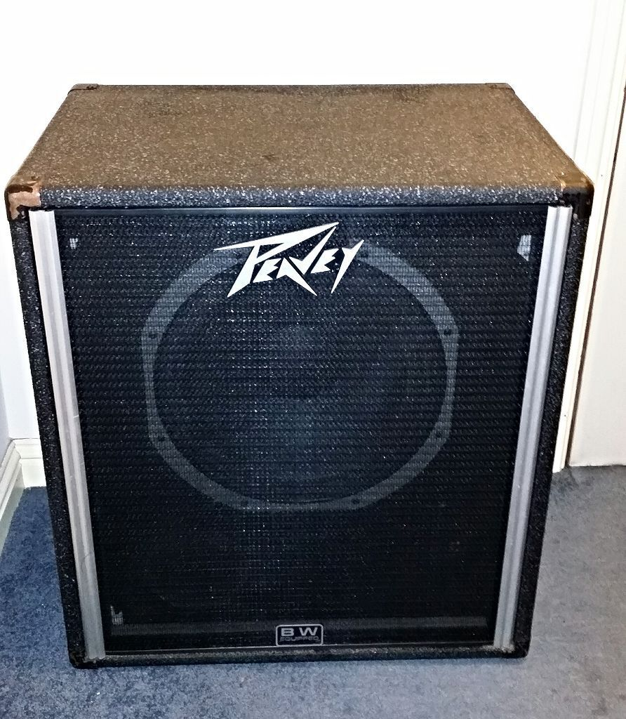 PEAVEY BLACK WIDOW-MODEL -115 BASS CABINET, HANDCRAFTED IN THE ...