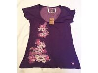 BRAND NEW - LADIES PURPLE TOP - from MANTARAY size 12