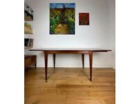 Mid-Century Afromosia Extending Dining Table by John Herbert for A. Younger Ltd FREE LOCAL DELIVERY