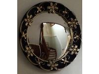 Vintage Convex Tole Mirror
