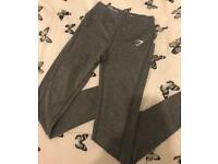 GYMSHARK dry sculpture leggings in grey (size small)