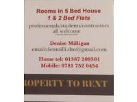Rooms to let in shared house
