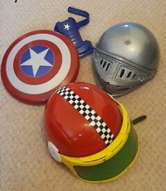 Kids Captain America Shield and various hats