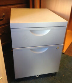 office pedestal grey metal filing cabinet on wheel