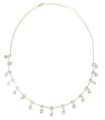 14k Gold Blue Topaz Necklace (Blue Topaz 18
