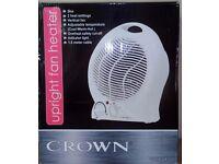 Crown upright 2 kw fan heater
