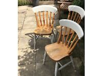 Wooden chairs shabbychic project