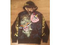 "Brand new authentic Christian Audigier men's luxury ""Faith"" designer hoodie. Size large"