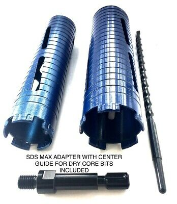 2 3 Dry Diamond Core Bit For Concrete W Sds Max Adapter Center Guide