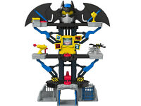 Fisher Price Imaginext Transforming Batcave, Batman Playset with Lights and Dart Launcher