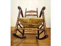Beautiful rush seat rocking chair