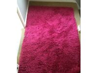 Pink rug for sale! Hardly used