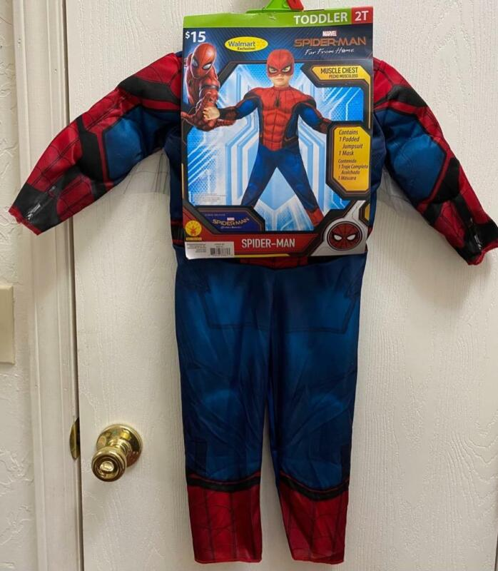 Halloween Costume Toddler Boy 2T Marvel Spider-Man 2 pc Dress-Up Photo-Shoot NWT