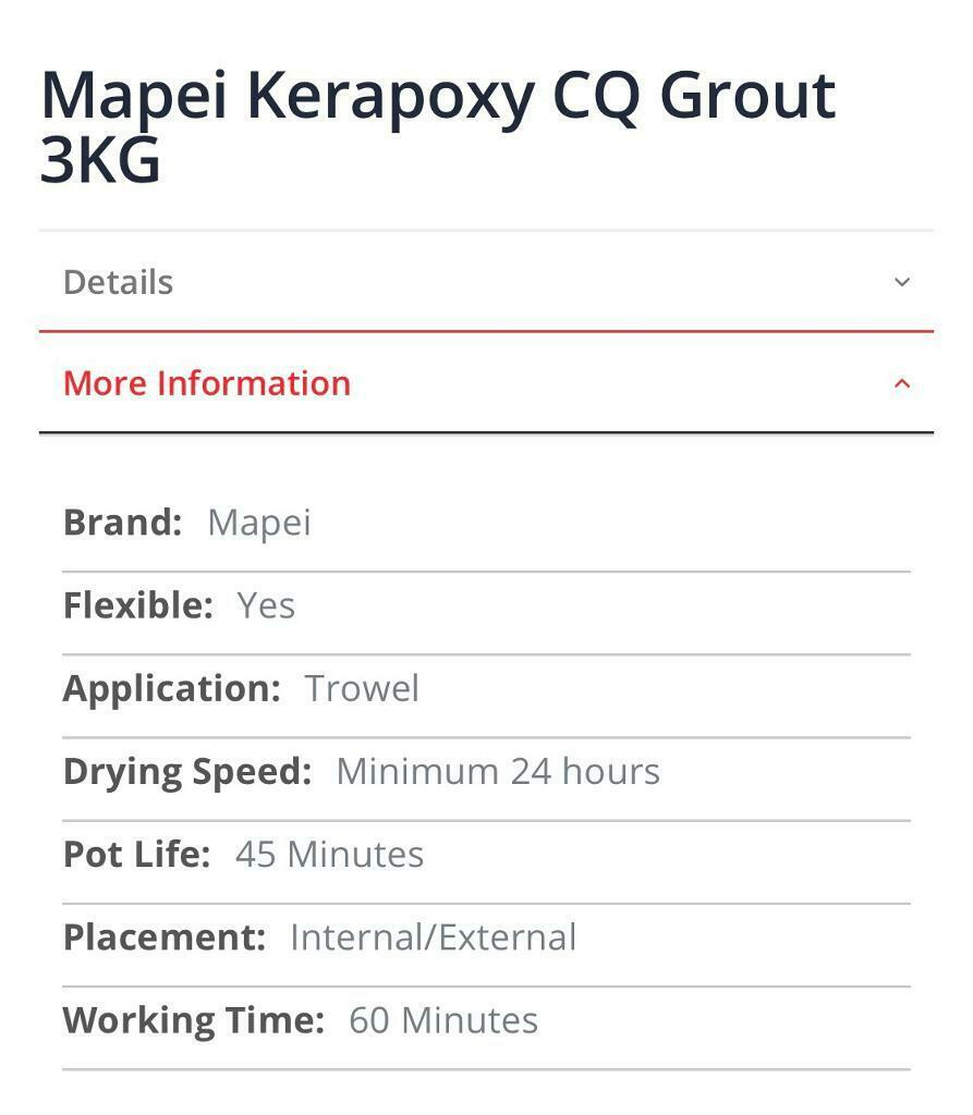 Mapei Kerapoxy CQ Grout | in Crossgates, West Yorkshire | Gumtree
