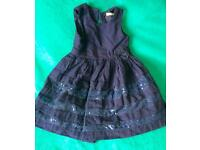 Age 3-4 girls Blue sparkle lined party dress