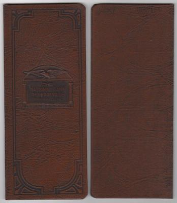 The National Bank of Brookville, PA - Account Book - Brown Faux Leather - 1940s