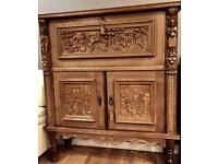 A Stunning and Rare Antique Carved Oak Sideboard
