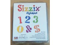 New Sizzix Alphabars – Classic Stencil, Numbers & More Set - Pt N. 38-1169