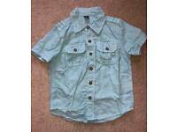 Baby gap boys short sleeve shirt top blue age 3 years