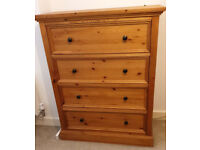 4 drawer chest of drawers from Next - solid wood