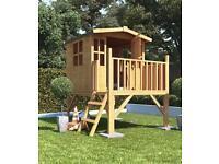 6f x 5f children's wooden outdoor playhouse. (NEW)