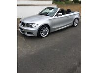 BMW 1 SERIES 120D CONVERTIBLE M SPORT £9400 ONO ( LOW MILES IMMACULATE CAR)