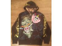 2 brand new Christian Audigier men's authentic luxury designer hoodies, decorated with rhinestones