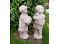 Jack and Jill; cast stone