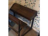 Old double school desk