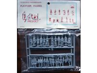 Dapol OO/HO Scale Trackside Model - Platform Figures containing 36 figures and 3 hand trolleys