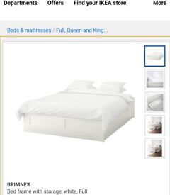 IKEA double bed frame with storage and Matress. Very good condition. Needs to go ASAP. Both together