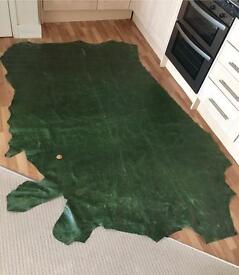 Green Leather 1x2 meters