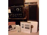 "Vintage HiFi: Sansui AU 777 Amplifier Tuner Deck Speakers 109 LPs & Cleaning Kit + ""Stuff"""