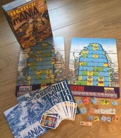 BLOCK MANIA Judge Dredd 2000AD boardgame, boxed, VGC, 1987 Games Workshop