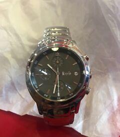 Gents Dolce Gabbana sikver wristwatch grey face