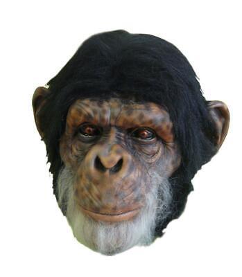 Schimpanse Latex Maske Voll über Kopf Halloween Requisite Kostüm Planet Of - Halloween Planet Kostüm