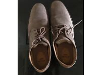 Mens brown clark shoes size 12