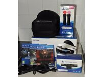Sony PlayStation 4 VR Headset and accessories