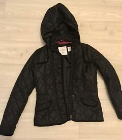 Girls black H&M coat